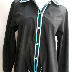 Bob Mackie Wearable Art Button Down Shirt